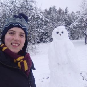 A Snowy Owl!
